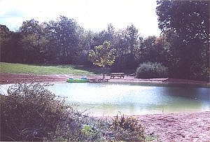 View of the pond looking east
